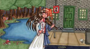 Violino Mágico (Canetas Copic)